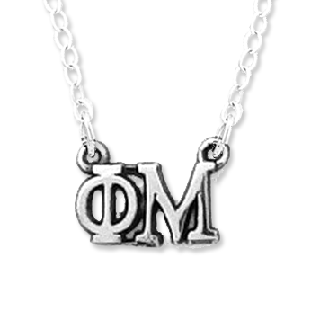 Phi Mu Necklace . Greek Letters