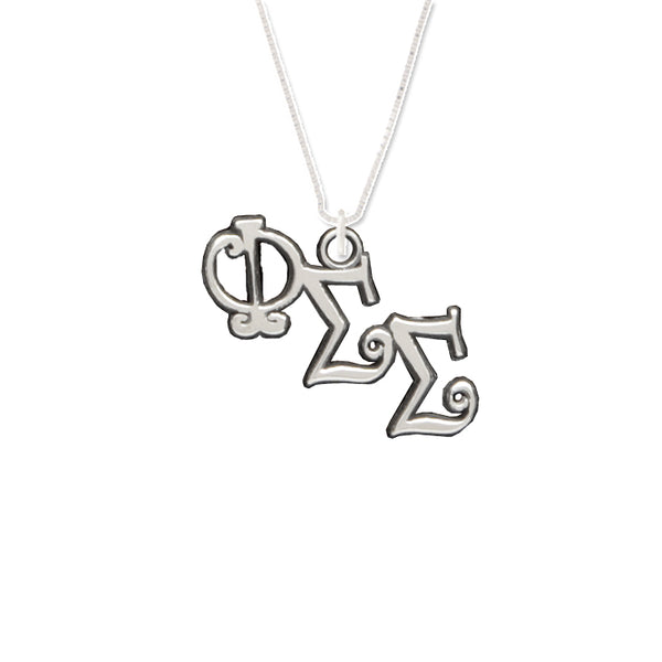 Phi Sigma Sigma charm for your sorority necklace. Sterling Silver sorority charm.
