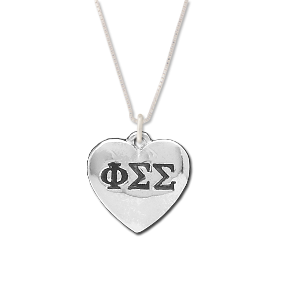 Phi Sigma Sigma charm in sterling silver for a beautiful sorority necklace.