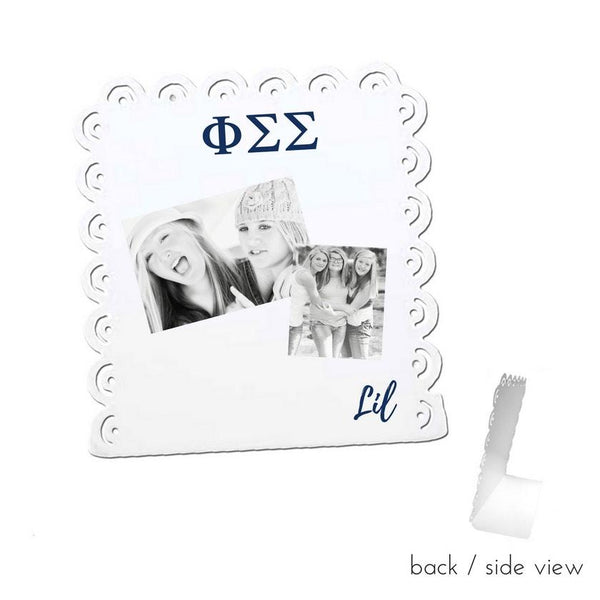 Phi Sigma Sigma Little Sign for Desk or Shelf; Cute Big Little Gift for Reveal