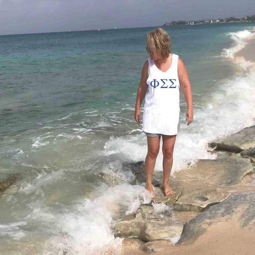 Phi Sigma Sigma Tank Top I Large Greek Letters