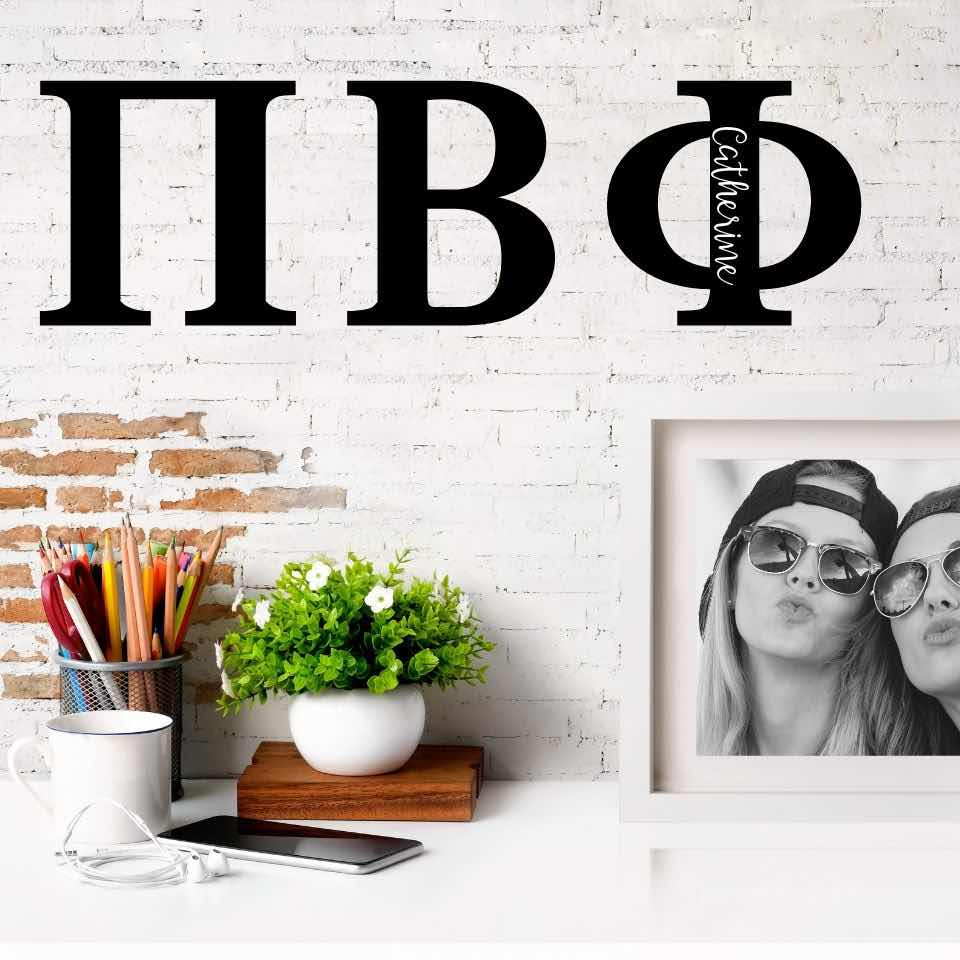 Pi Beta Phi Greek Letters Ready to Hang I 7 inches I Personalize
