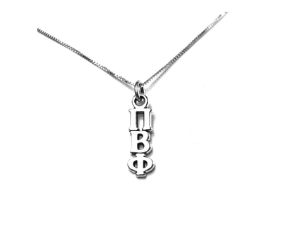 Pi Beta Phi Lavaliers sterling silver. Add a 16 in, 18 in, or 20 in sterling silver box chain. Is it a gift? Let us ship for you in a gift box tied with ribbon and a handwritten gift card.