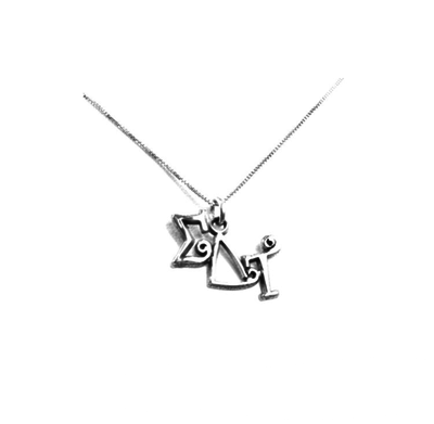 Sigma Delta Tau charm for your sorority necklace. Sterling Silver sorority charm.