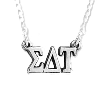 Sigma Delta Tau necklace, Greek Letters choker style (chain included).