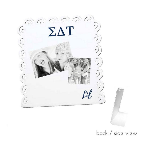 Sigma Delta Tau Little Sign for Desk or Shelf; Cute Big Little Gift for Reveal