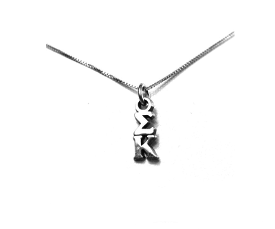 Sigma Kappa Lavaliers sterling silver. Add a 16 in, 18 in, or 20 in sterling silver box chain. Is it a gift? Let us ship for you in a gift box tied with ribbon and a handwritten gift card.