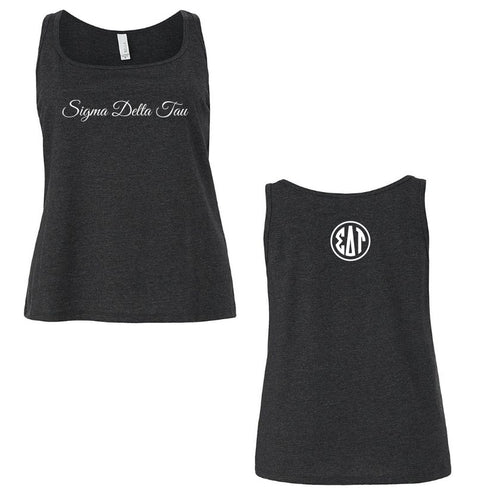 Sigma Delta Tau Tank Top I Relaxed Boxy Style