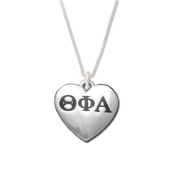 Theta Phi Alpha charm in sterling silver for a beautiful sorority necklace.