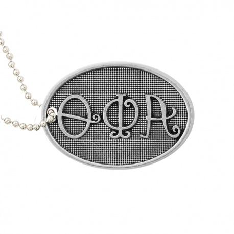Theta Phi Alpha Luggage tag. Pewter Sorority Luggage Tag is the perfect $10 sorority gift. #ThetaPhiAlpha r merchandise to love.