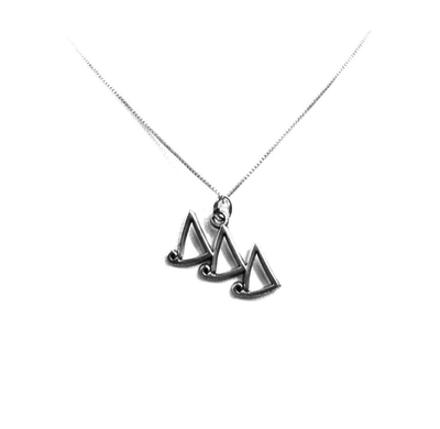 Delta Delta Delta charm for your sorority necklace. Sterling Silver sorority charm.