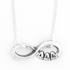 Tri Delta infinity charm in sterling silver with Greek letters.