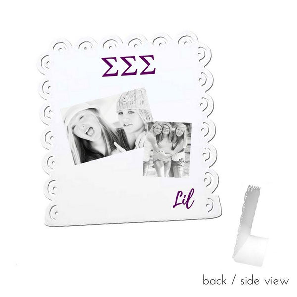 Sigma Sigma Sigma Little Sign for Desk or Shelf; Cute Big Little Gift for Reveal