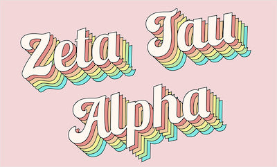 What's are top request right now? 70 inspired Zeta Tau Alpha merchandise. You asked we answered with these retro Zeta flags.