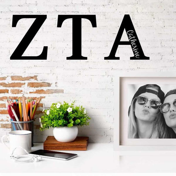 Zeta Tau Alpha Greek Letters Ready to Hang I 7 inches I Personalize