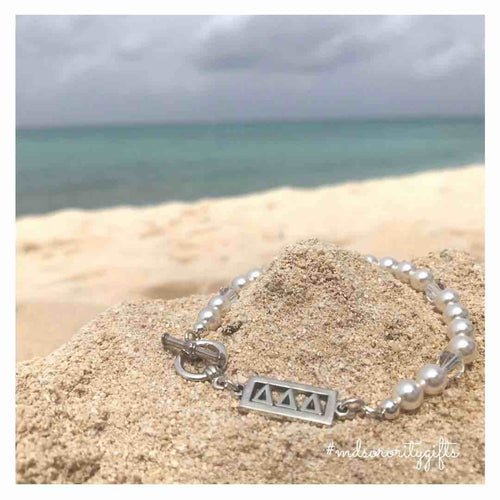Tri Delta Bracelet with pearls