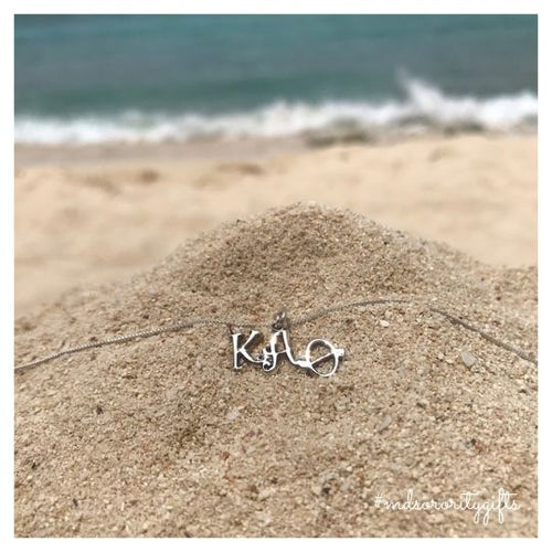 Kappa Alpha Theta Necklace Greek Letters