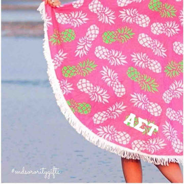 Alpha Sigma Tau Beach Towel