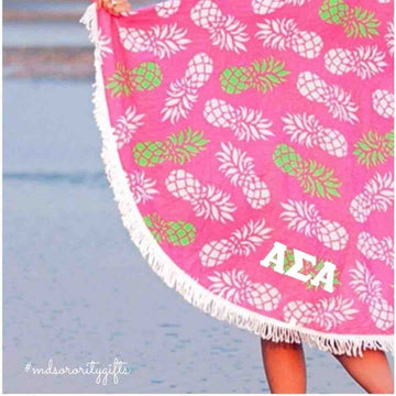 Alpha Sigma Alpha Beach Towel
