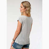 Roper Women's Grey Steerhead Strappy Tee