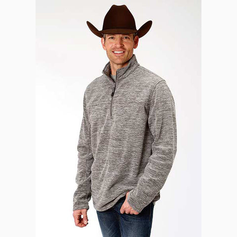 Karman Roper Men's Grey Micro Fleece Pullover