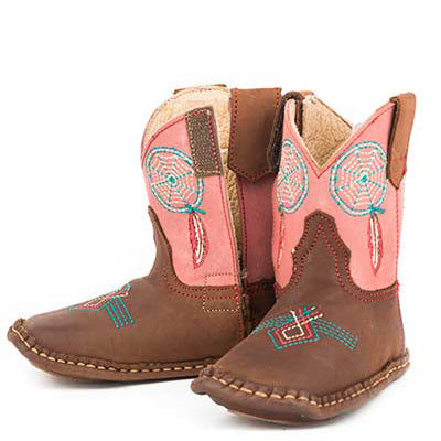 Roper Infant's Brown and Pink Dream Catcher Boot