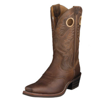 Ariat Men's Rowdy Heritage Roughstock Brown Square Toe Western Boots