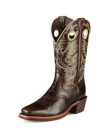 Ariat Men's Brown Heritage Rough Stock Boots