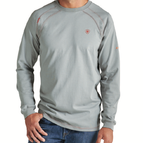 Ariat  FR Work Crew T-Shirt Silver Fox