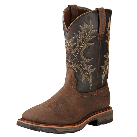 Ariat Men's Bruin Brown Workhog H2O