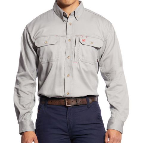 Ariat  FR Solid Vent Work Shirt Silver Fox