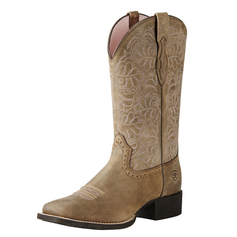 Ariat Brown Round Up Remuda Square Toe Boots