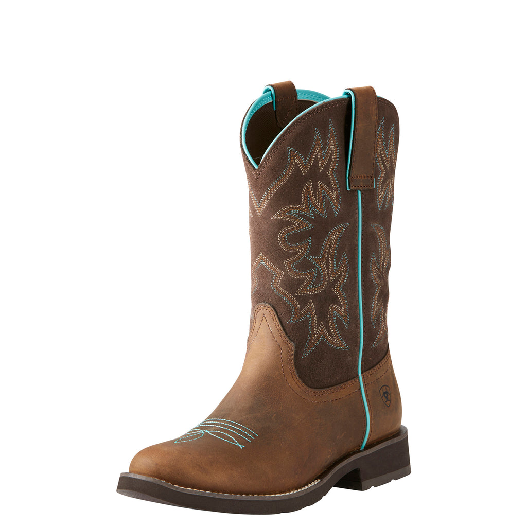Ariat Women's Distressed Brown Delilah Round Toe Boot