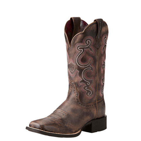 Ariat Quickdraw Women's Chocolate Square Toe Boot