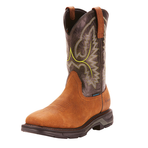 Ariat Men's Brown and Black Workhog XT Square Toe Boot