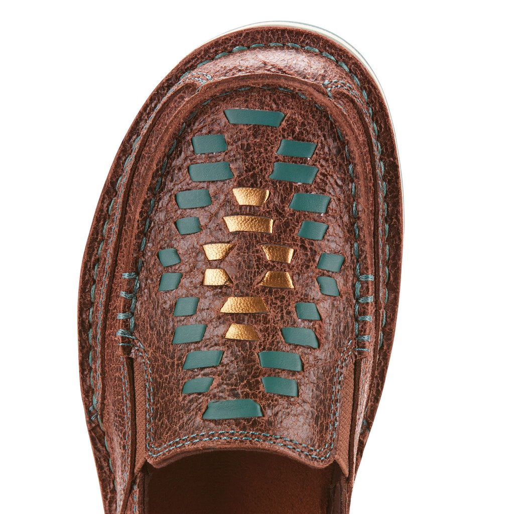 Ariat Women's Chocolate and Turquoise