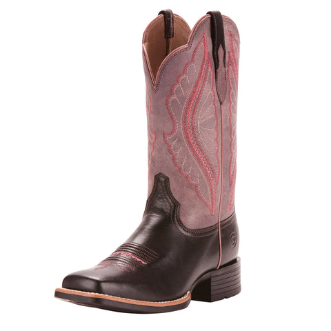 Ariat Women's Black and Rose Limousin Square Toe Boot