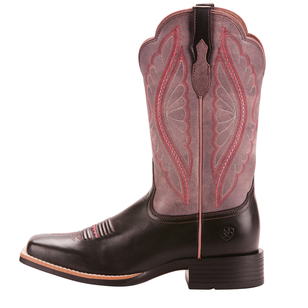 ariat black and pink cowboy boots