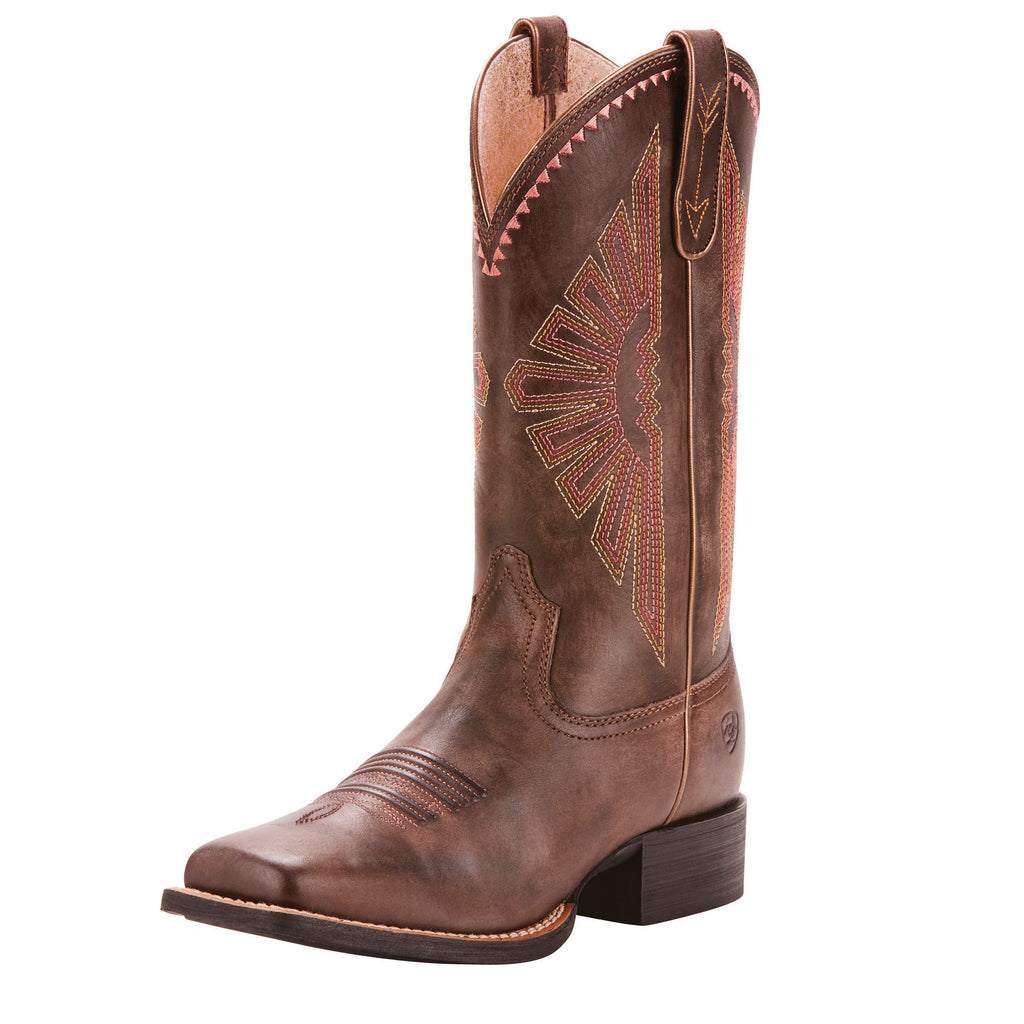 Ariat Women's Brown Round Up Rio Square Toe Boot
