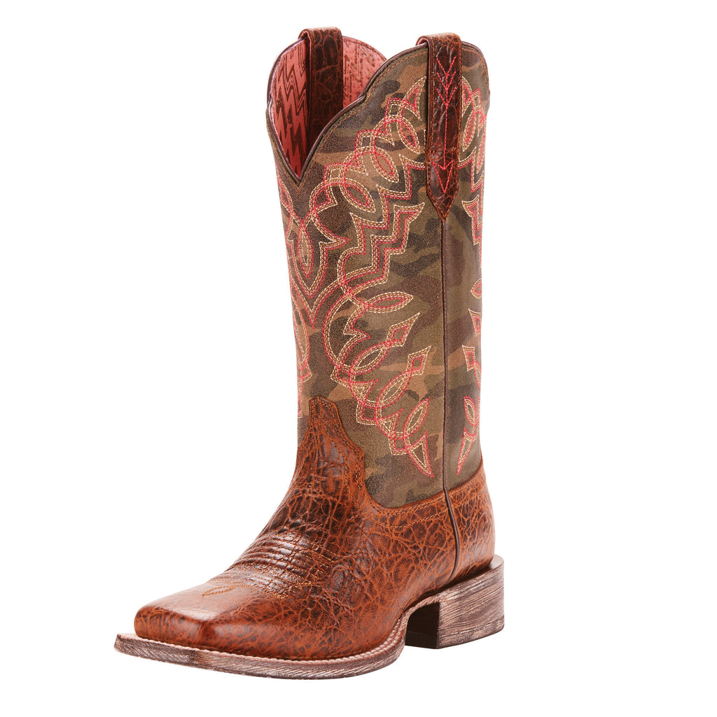 Ariat Women's Brown Camo Circuit Square Toe Boot
