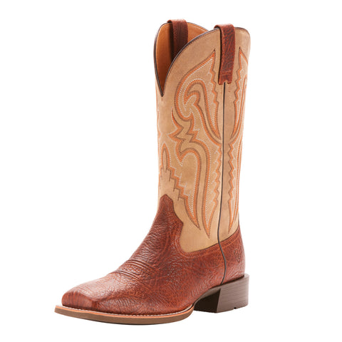 Ariat Men's Cognac Heritage Latigo Square Toe Boot