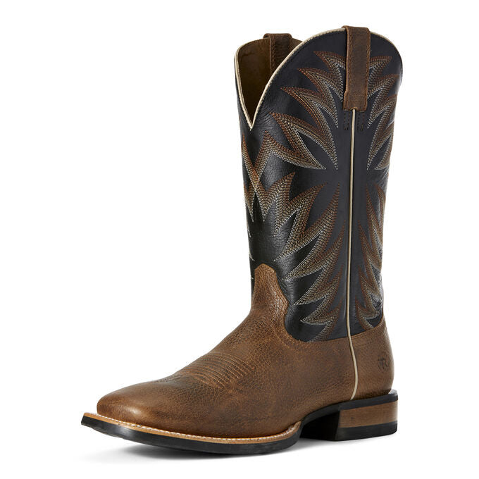 Men's Ariat Toffee and Black Square Toe Boot