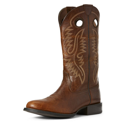 Ariat Big Hoss Brown Patina Round Toe Boot