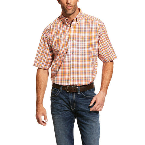 Ariat  ProFremont Short Sleeve Yellow & Orange Plaid
