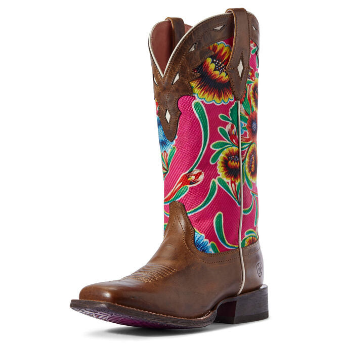 Ariat Women's Pink Circuit Champion Square Toe Boot