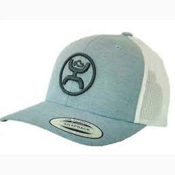 Hooey Blue and White Snap Back Cap
