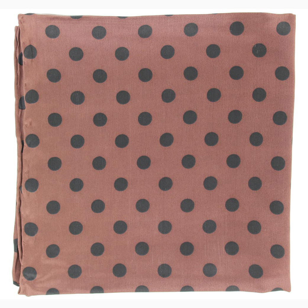 0ef689d98aa194 Brown and Black Polka Dot Silk Wild Rag – Western Edge, Ltd.