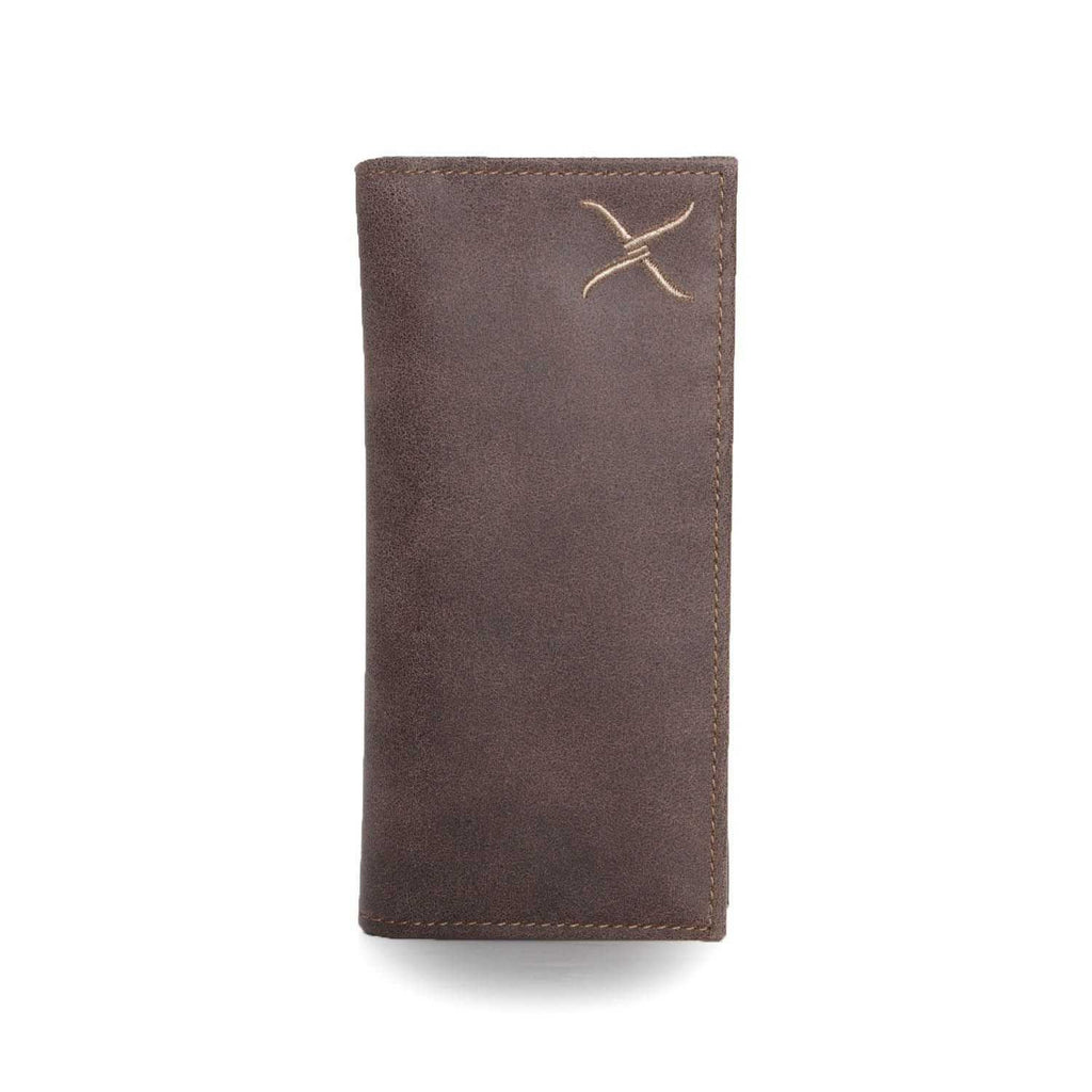 Twisted X Distressed Brown Leather Wallet