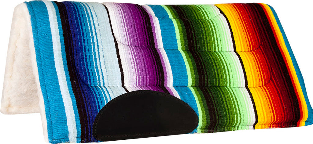 Serape Rainbow Fleece Pony Pad