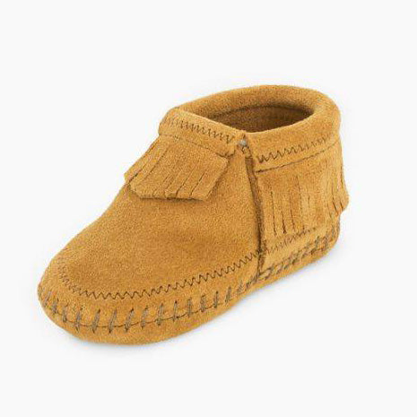 Taupe Suade Infant Minnetonka Moccasin